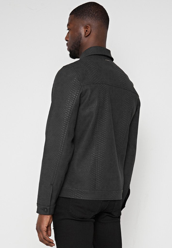 Limited Edition Python Effect Jacket - Grey