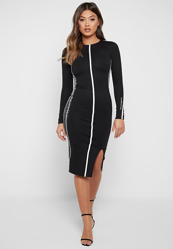 maniere-de-voir-bodycon-midi-dress-black