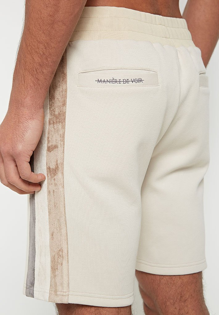 suede-panel-shorts-beige