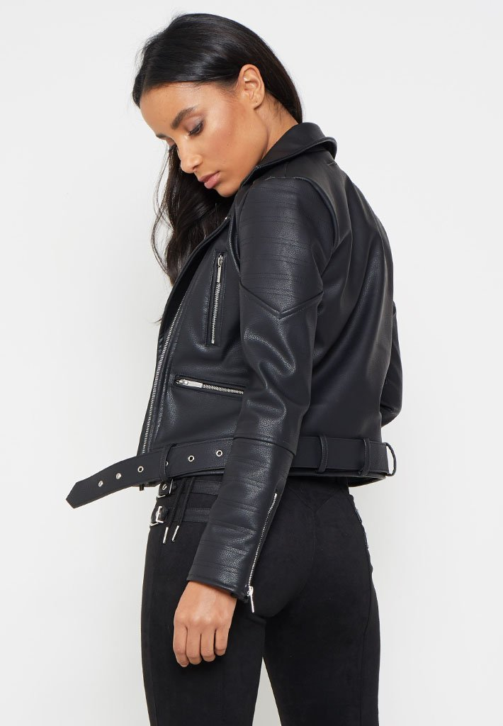 ribbed-faux-leather-biker-jacket-black