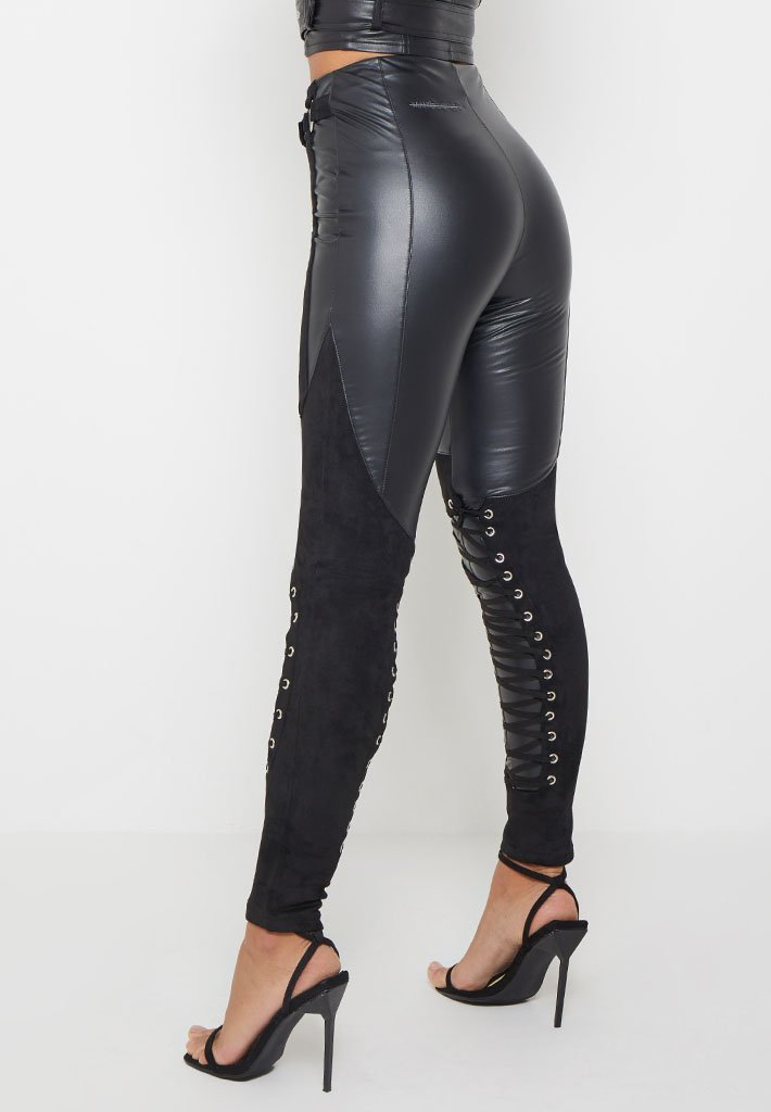 faux-leather-and-suede-lace-up-leggings-black