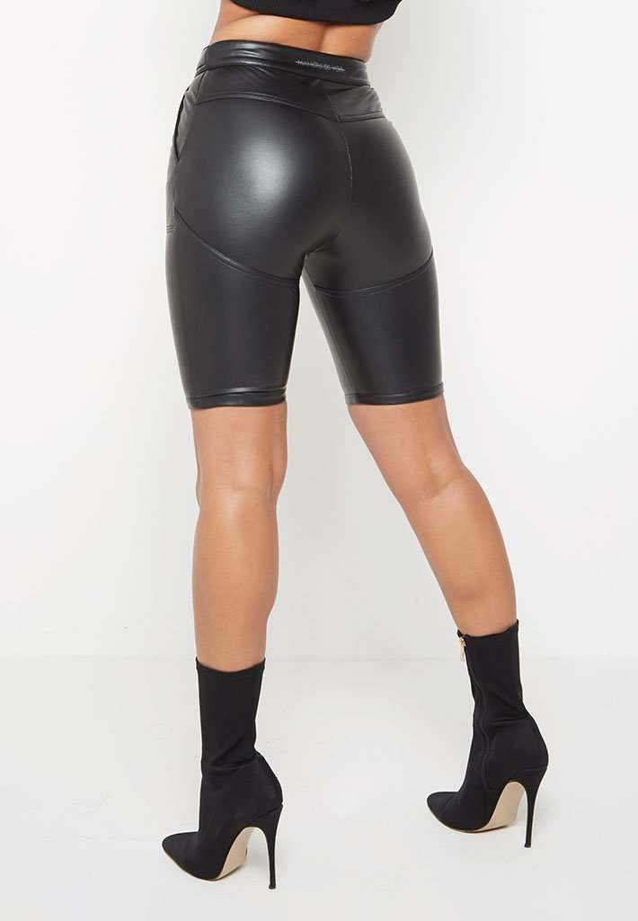 faux-leather-cycling-shorts-black