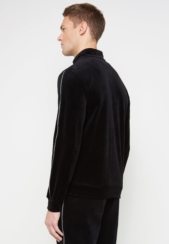 Contrast Collar T-Shirt - Black/White