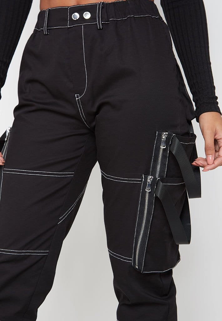 Zip-Pocket-Cargo-Joggers-Black