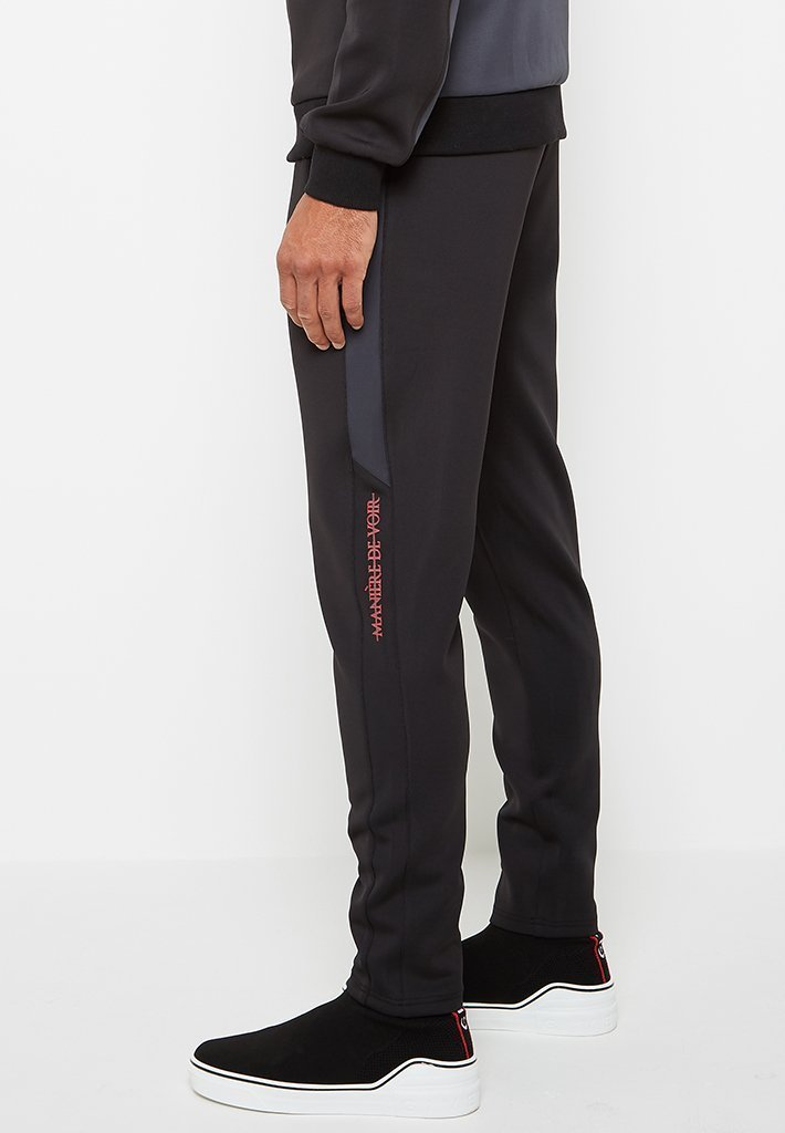 maniere-de-voir-tracksuit-bottoms-black-charcoal-grey
