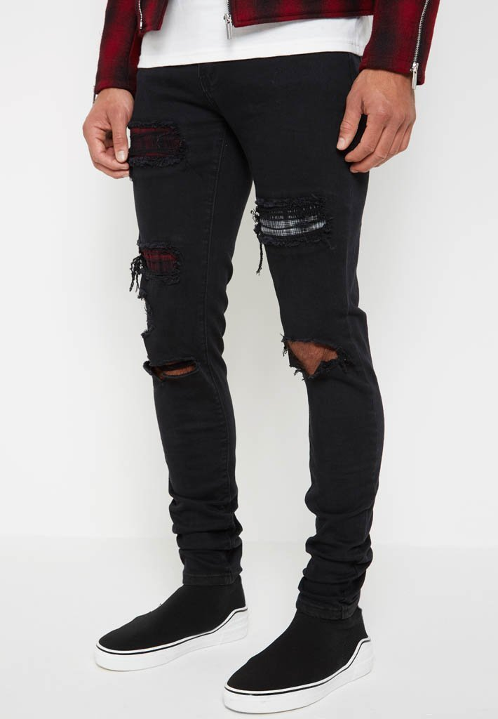 patchwork-jeans-black