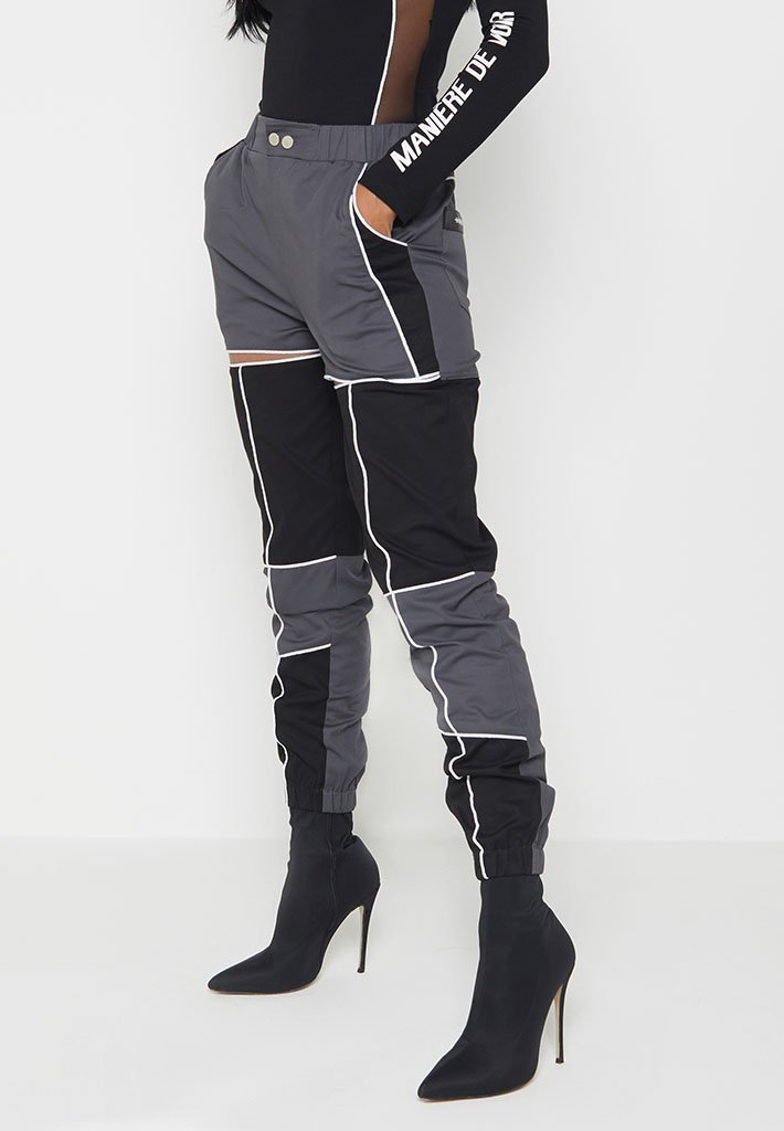 piped-cut-out-cargo-pants-black