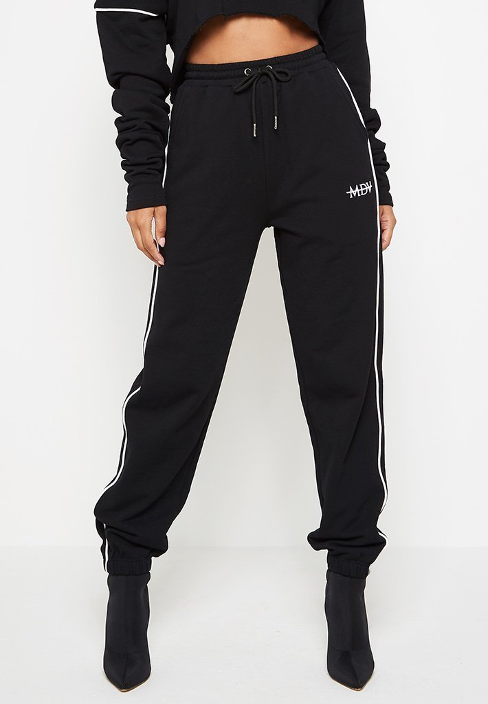 contrast-piped-joggers-black
