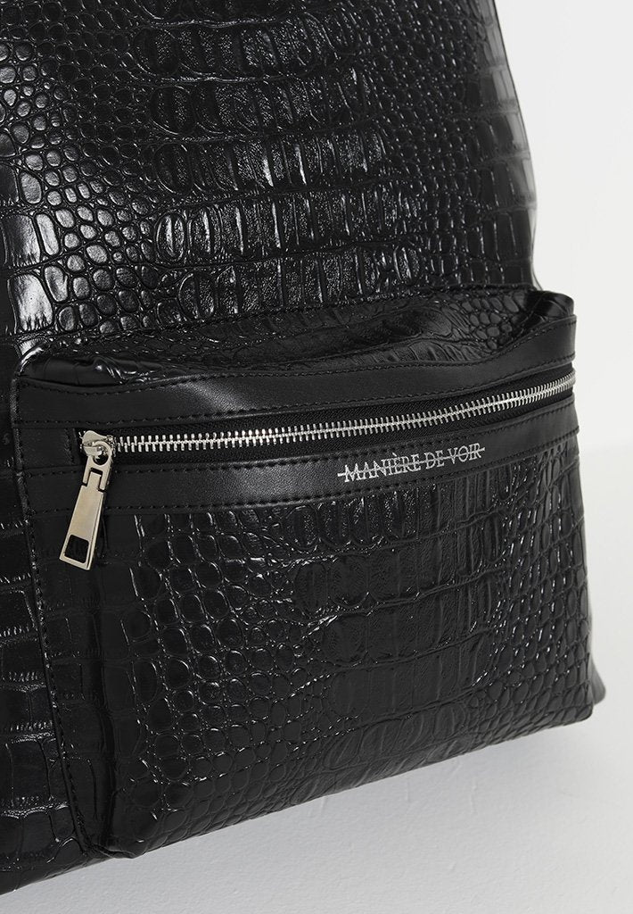 croc-vegan-leather-backpack-with-hardware-detail-black