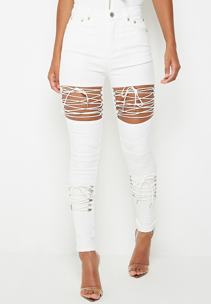 cut-out-lace-up-skinny-jeans-white