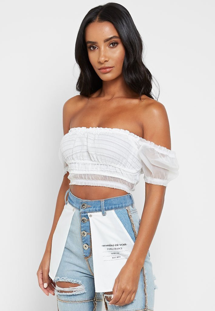 mesh-ruched-top-white