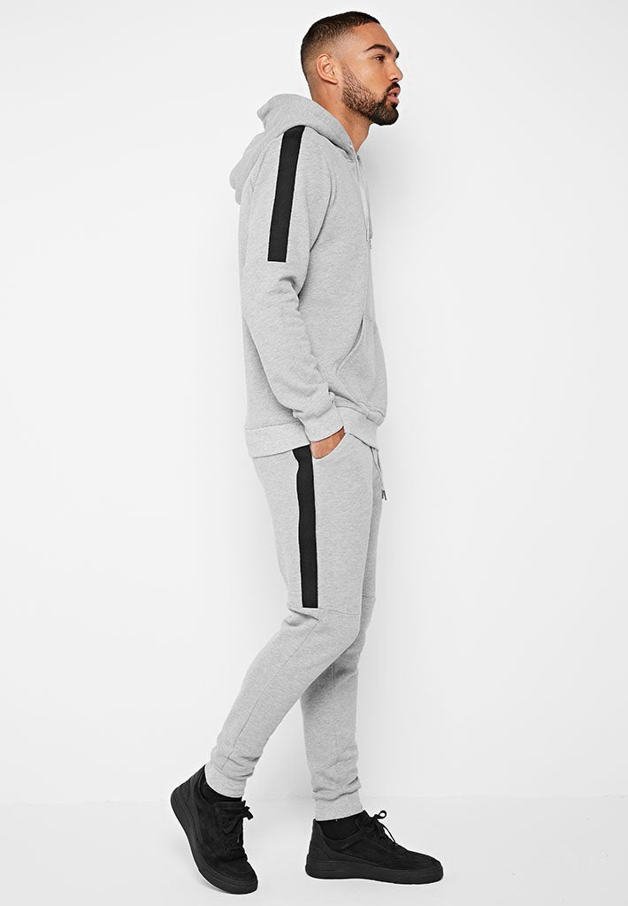 Side Stripe Tracksuit Joggers - Grey