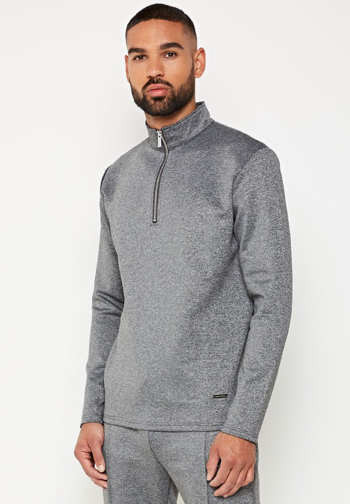tailored-1-4-zip-tracksuit-pullover-charcoal-grey