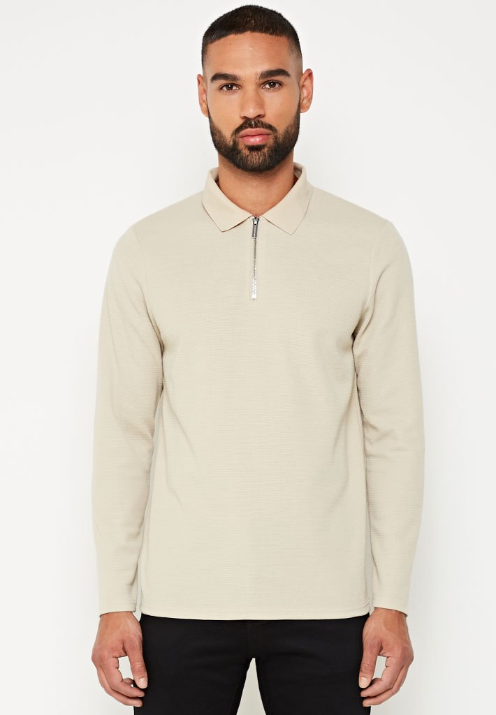 long-sleeve-knitted-polo-top-beige