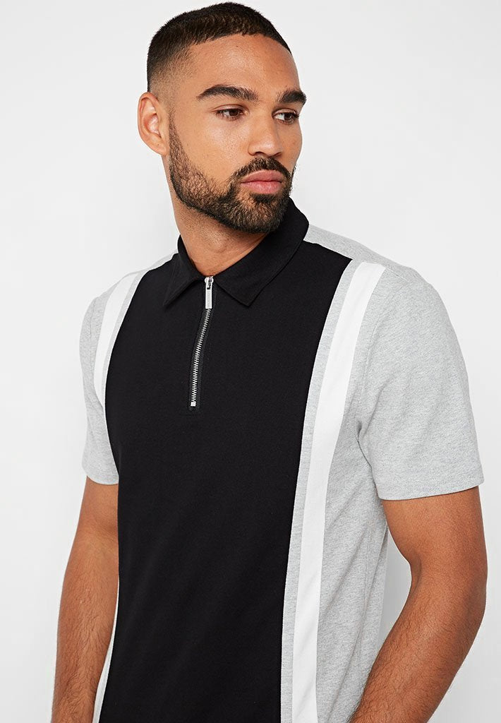 Retro Polo Top - Black