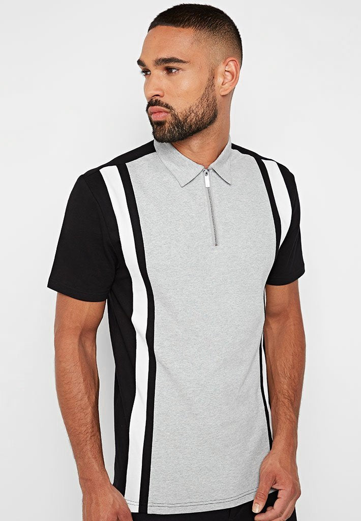 Retro Polo Top - Grey