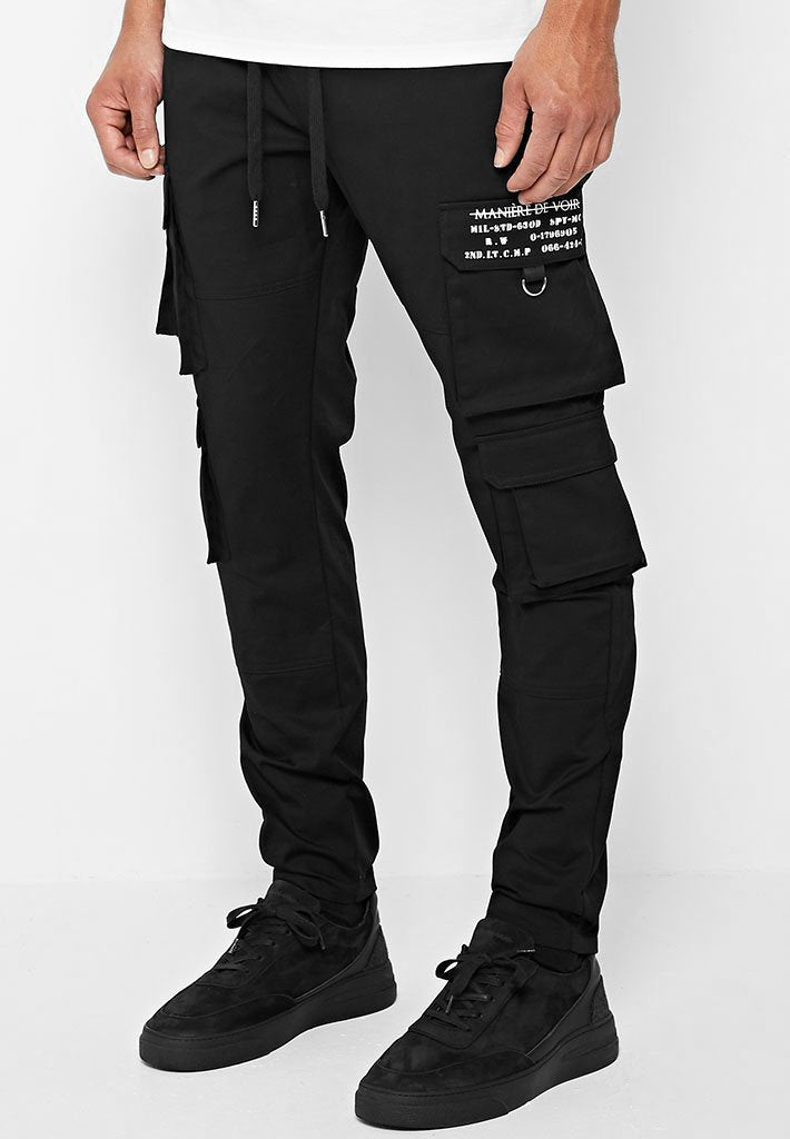 cargo-trouser-with-stamp-print-black