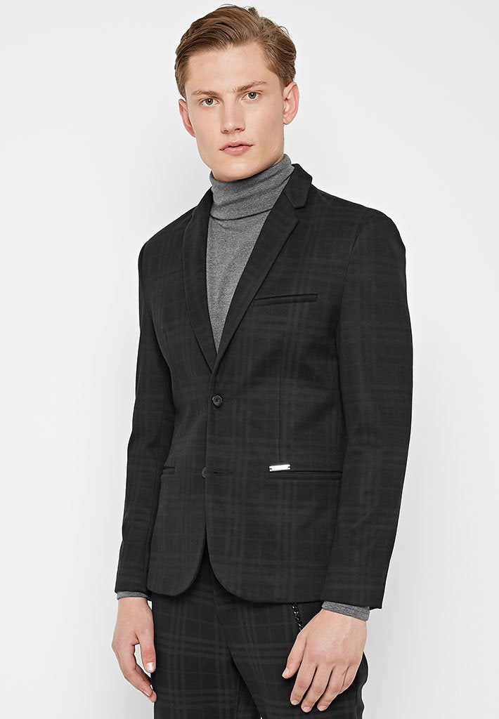tonal-check-blazer-black
