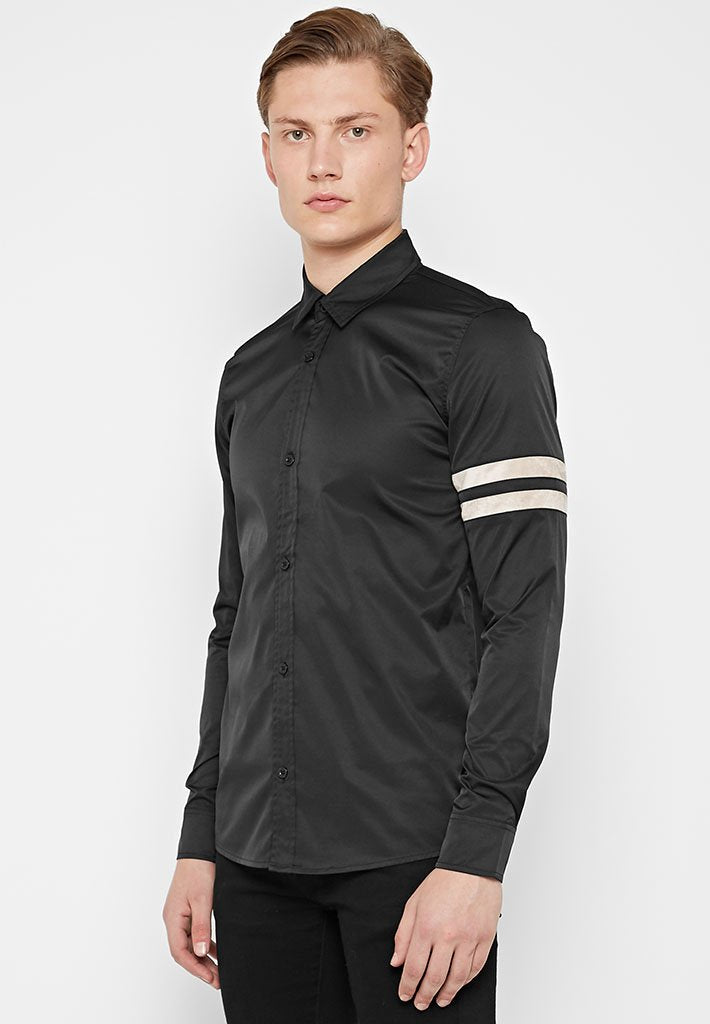 suede-double-stripe-shirt-black