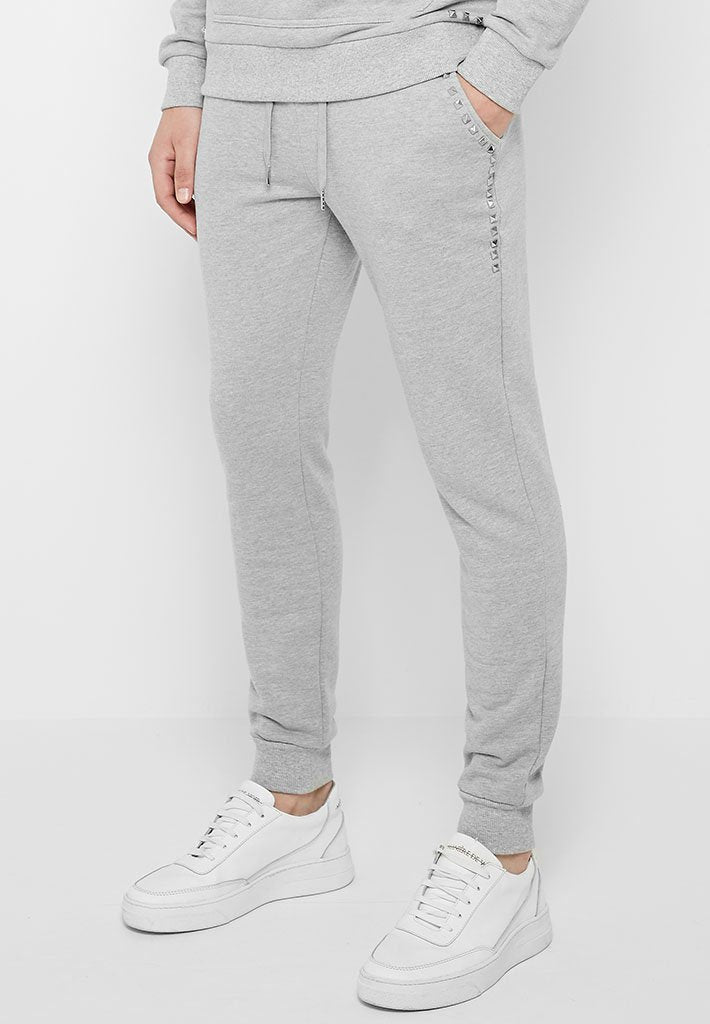 Studded Tracksuit Joggers - Grey