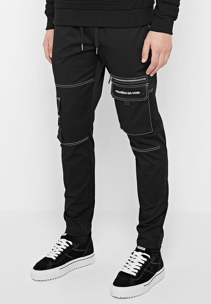 contrast-stitch-cargo-pants-black-1