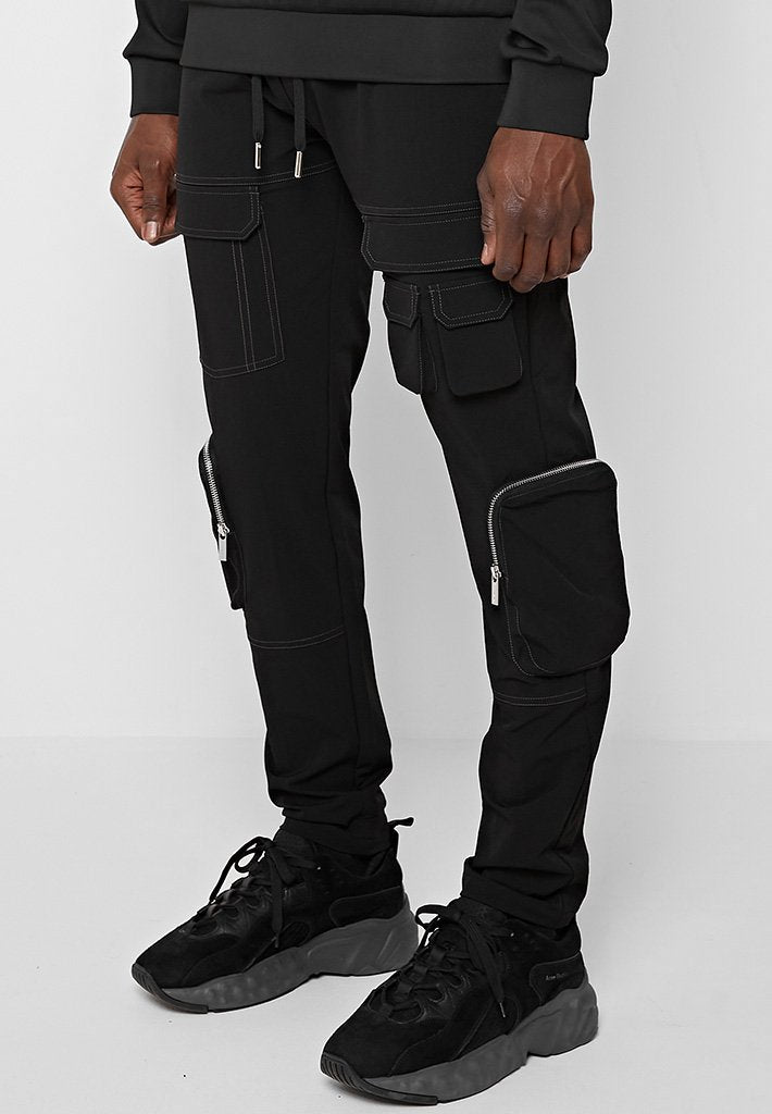 contrast-stitch-detail-cargo-pants-black