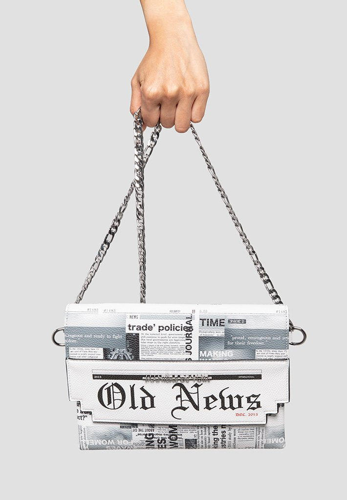 newspaper-print-clutch-white  Edit alt text