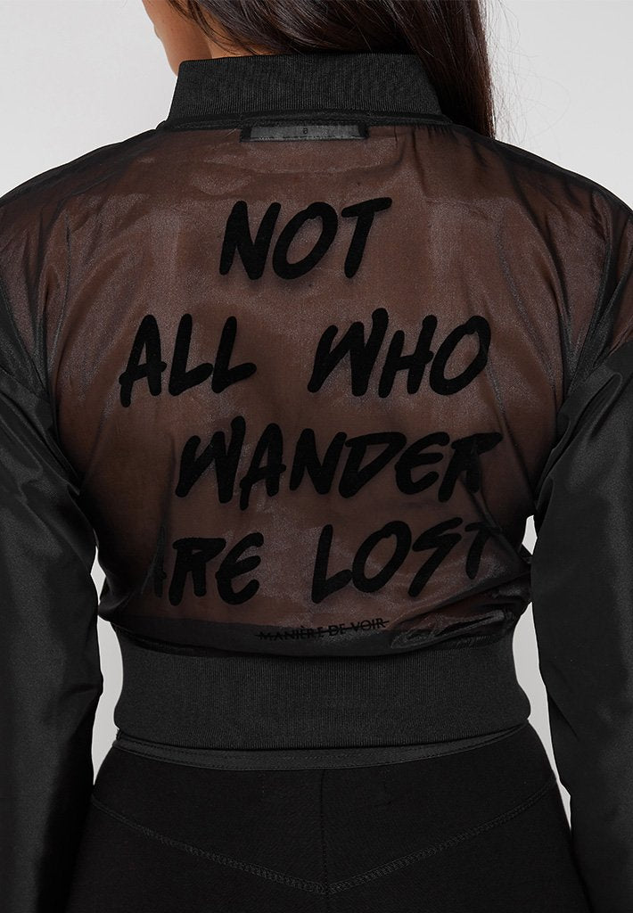 Not All Who Wander Are Lost Jacket - Black