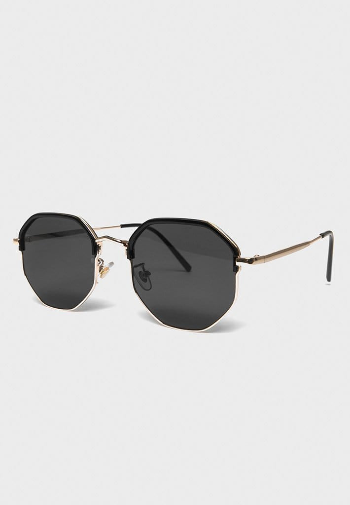Octagonal Sunglasses - Black