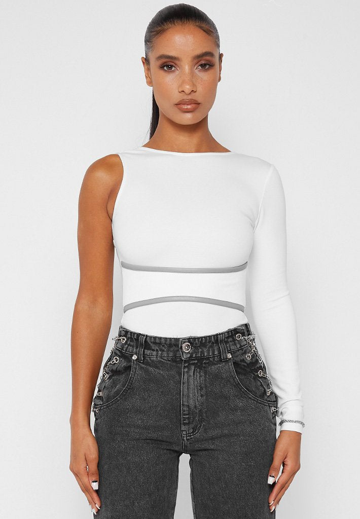 one-sleeve-chain-detail-bodysuit-white