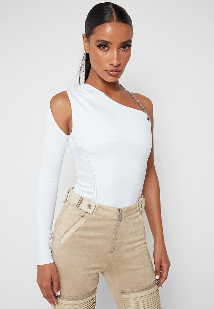 one-sleeve-halterneck-bodysuit-white