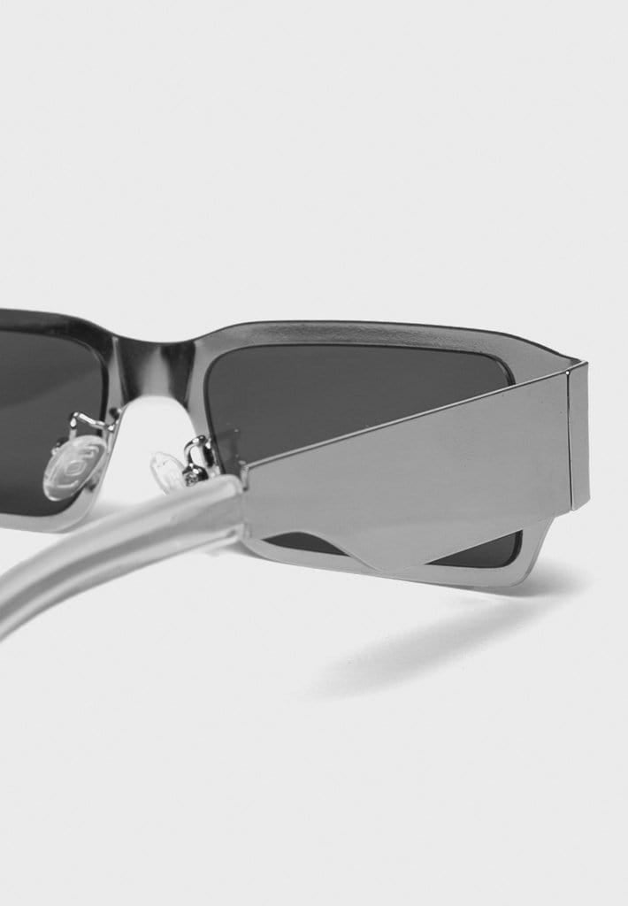 Rectangle Stainless Steel Sunglasses - Silver