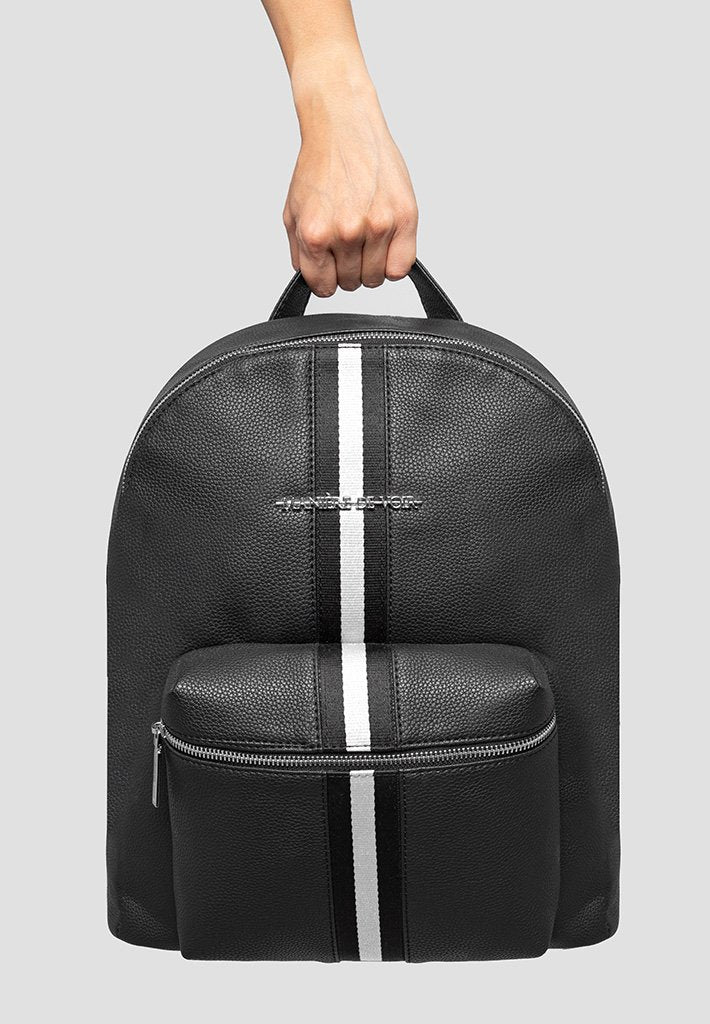 reflective-striped-backpack-black