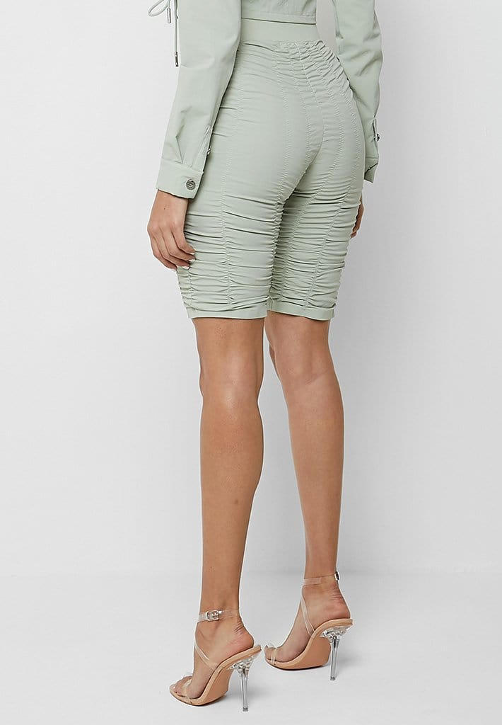 ruched-cycling-shorts-sage-green