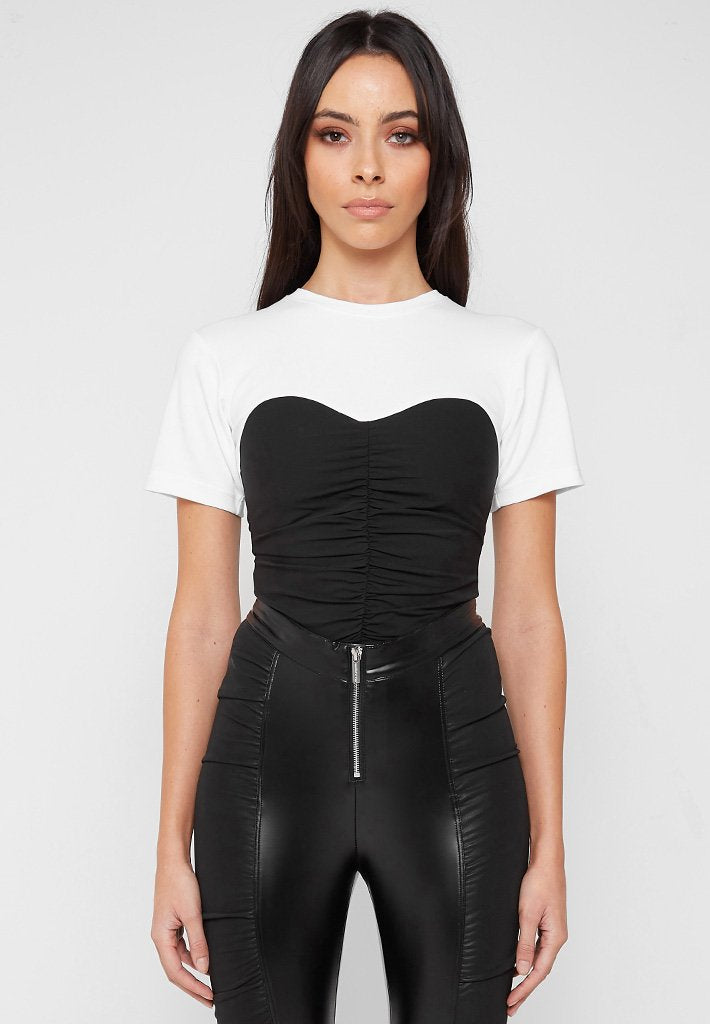 ruched-bandeau-t-shirt-black-white