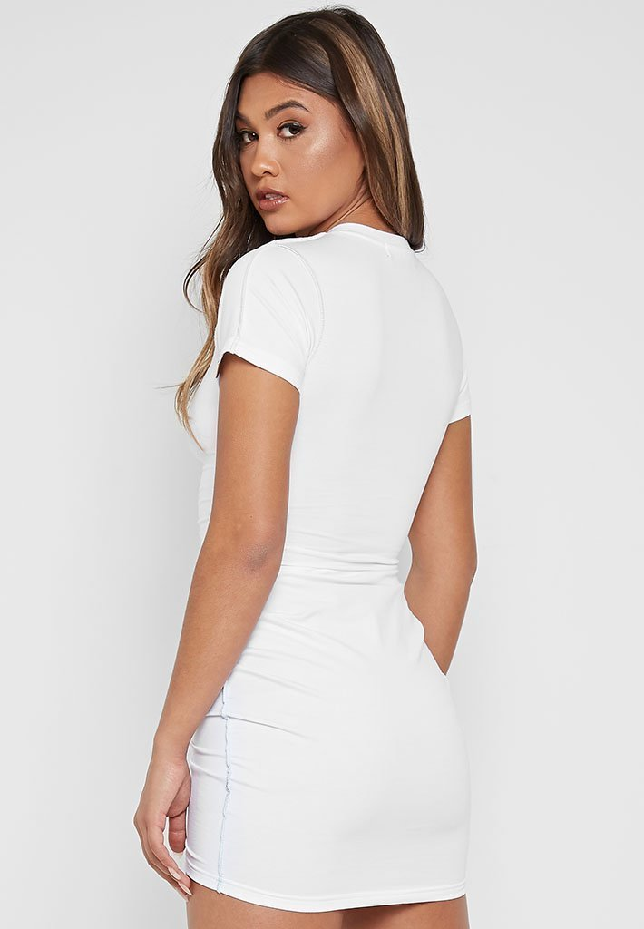 ruched-t-shirt-dress-white