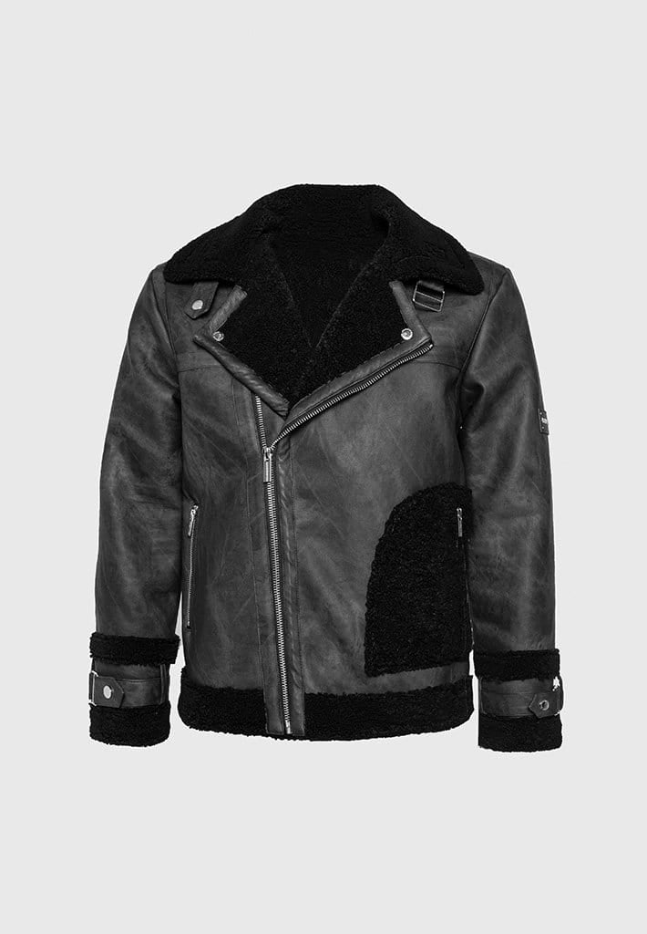 shearling-vegan-leather-biker-jacket-black