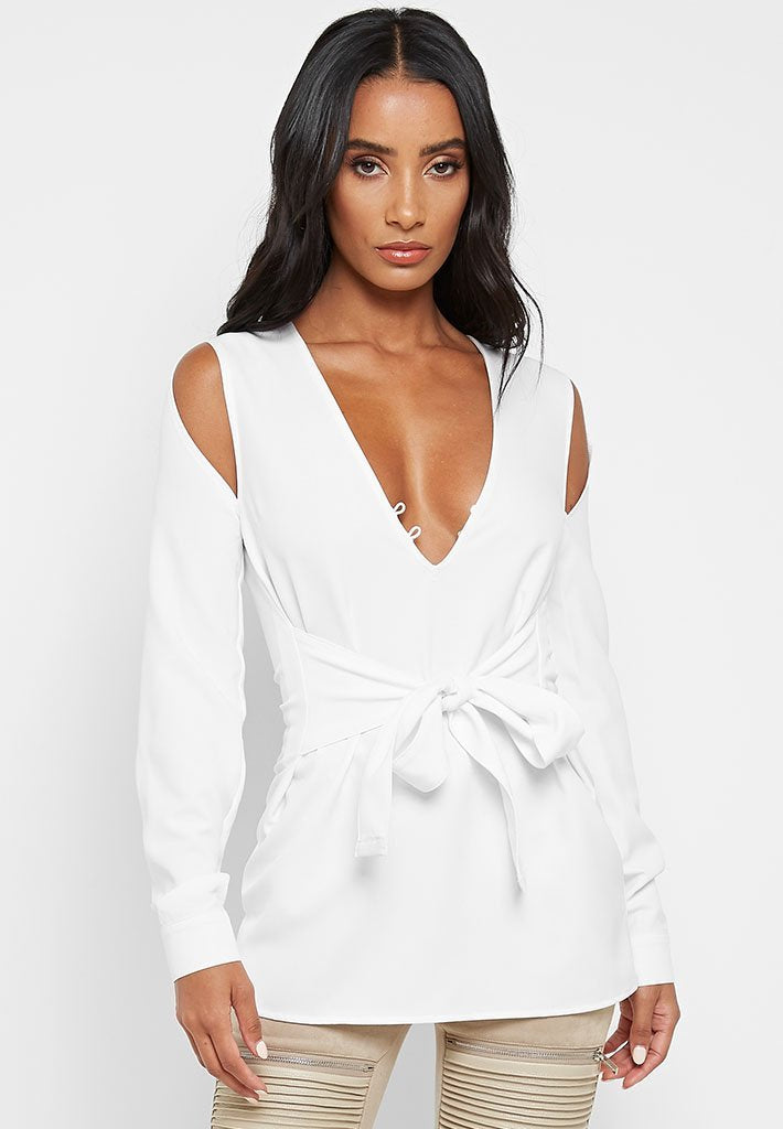 split-long-sleeve-top-off-white