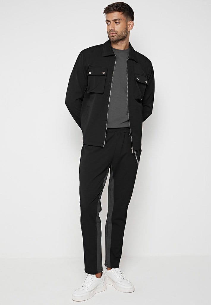 tailored-contrast-harrington-jacket-black