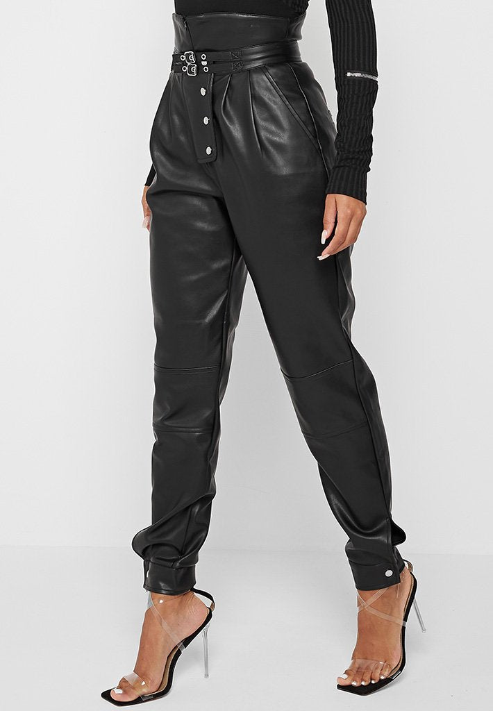vegan-leather-cargo-pants