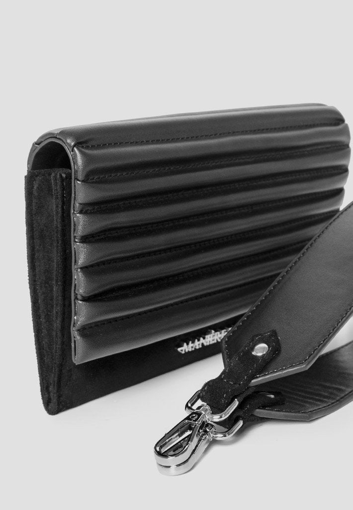 Vegan-Leather-and-Suede-Padded-Clutch-Black