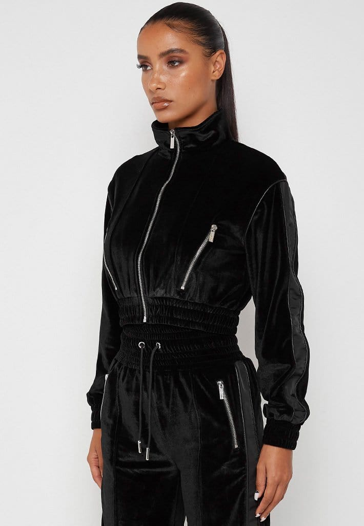 velour-and-nylon-jacket-black
