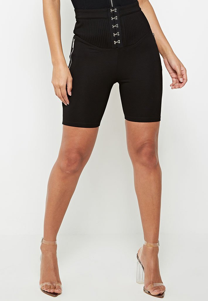 high-waisted-corset-shorts-black