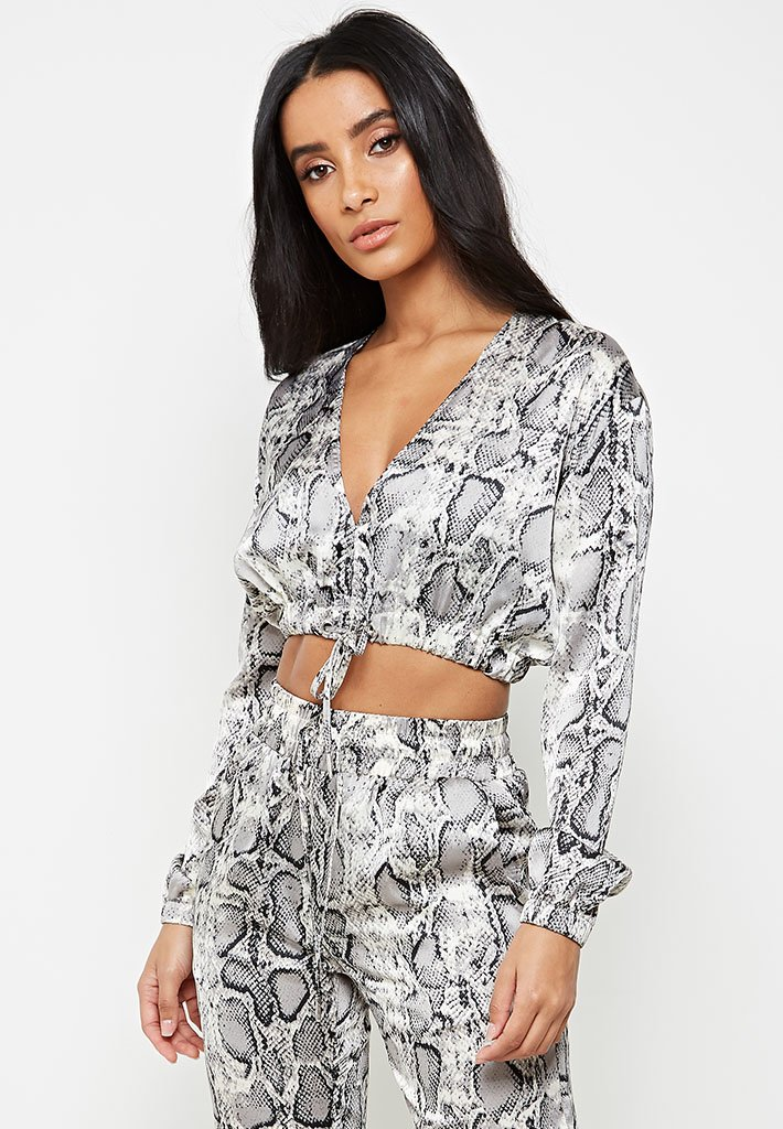satin-snake-print-cropped-top-grey