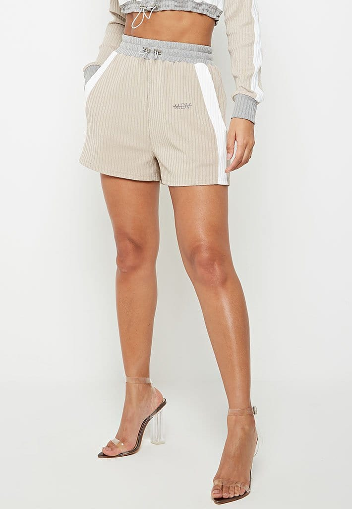 ribbed-track-short-beige-grey