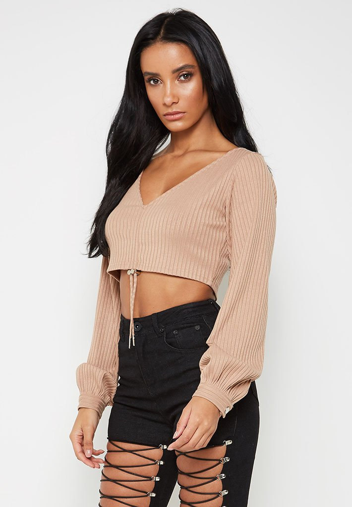 ribbed-balloon-sleeve-top-beige