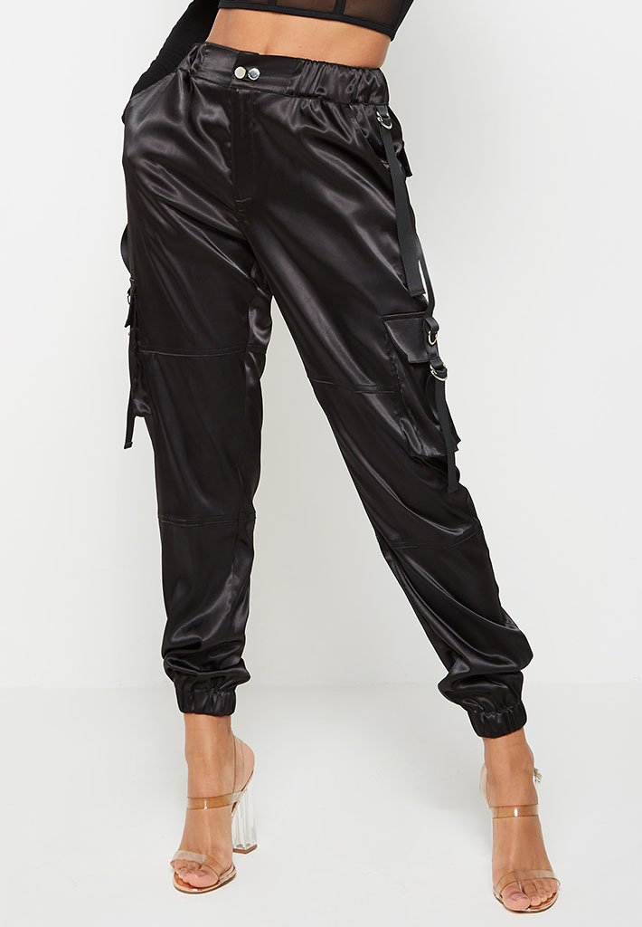 satin-cargo-trousers-black