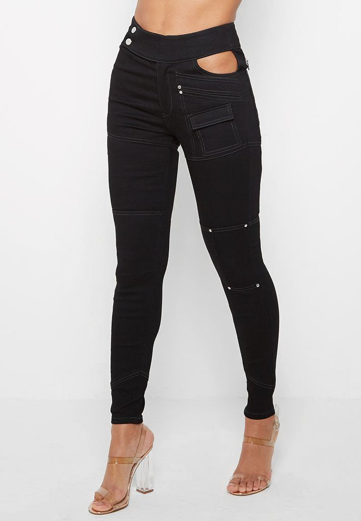 cut-out-waist-skinny-jeans-black