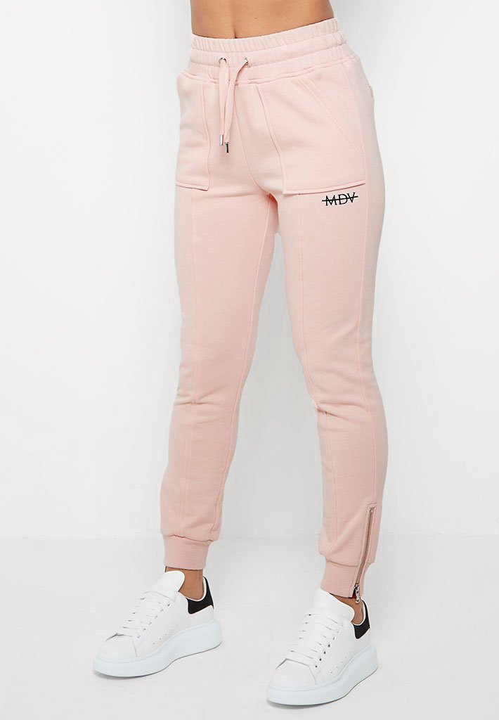 Essential MDV Zip Side Joggers - Pink