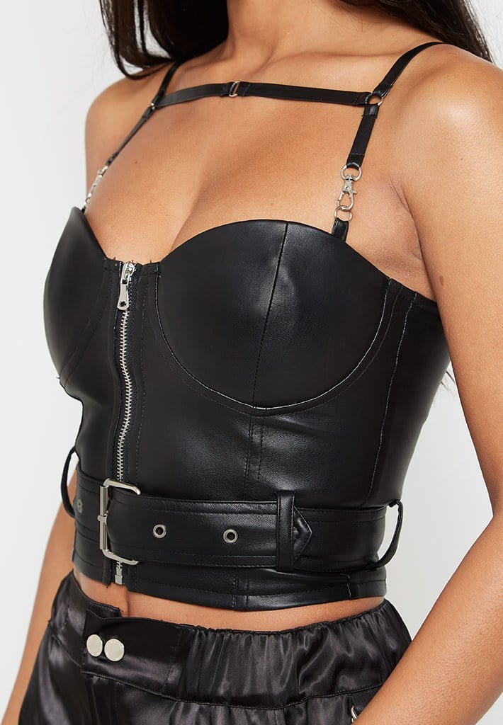 leather-belted-bustier-top-black